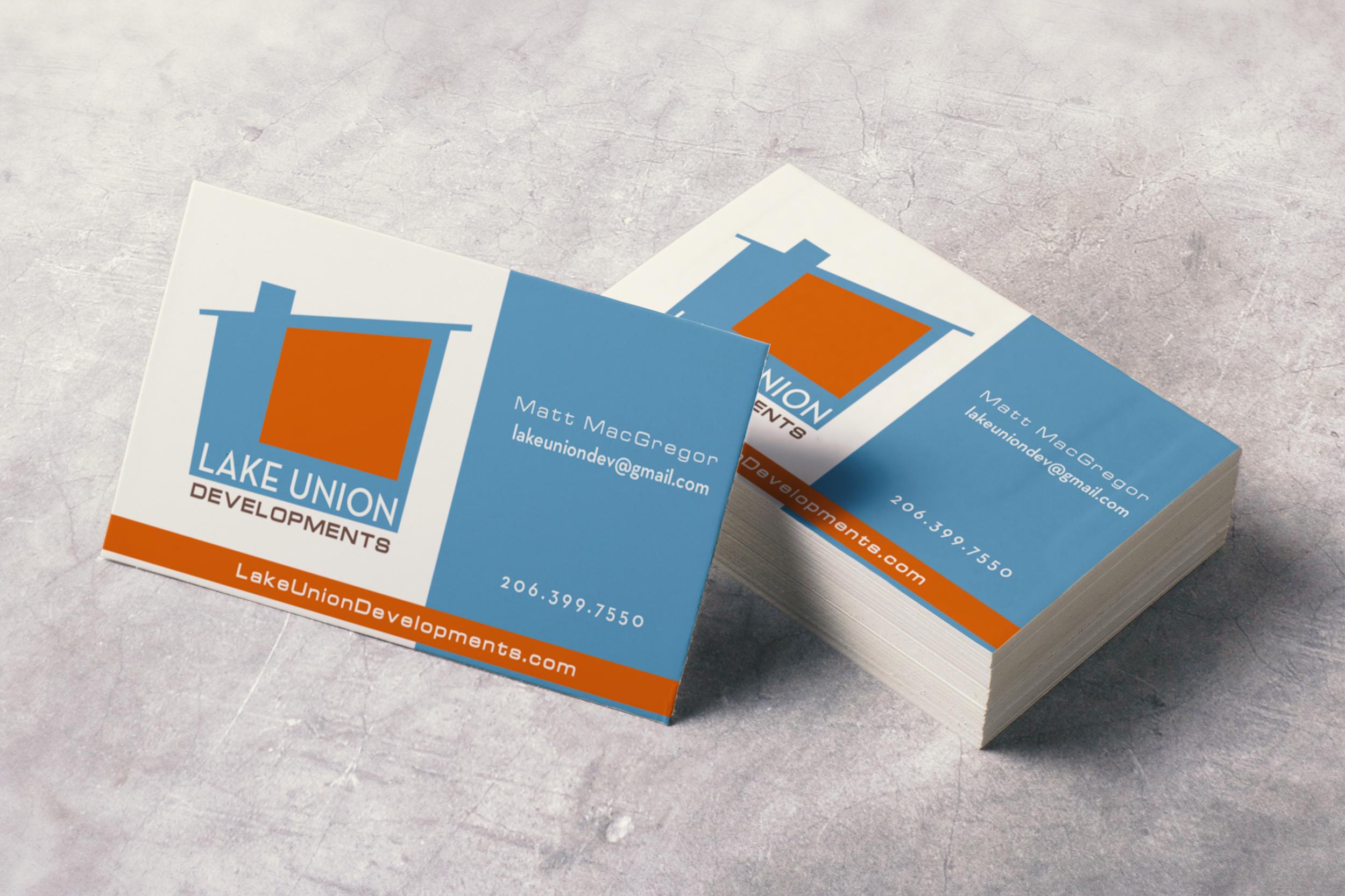 Lake union developments hi octane design environmental for Union business cards